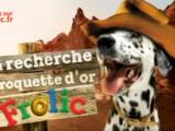 la mascotte de chez Frolic, un dalmatien