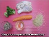 Recette pour chien, à base d'aliments naturels