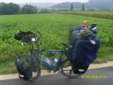 Voyager à véloavec un chien