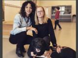 Noémie Lenoir et Joos, 5000e chien guide d'aveugle du centre Paul Corteville